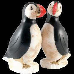 Macareaux femmale en céramique et or de 23 K de Pauline Pelletier