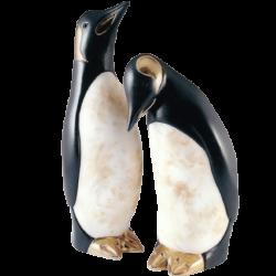 Pinguin en céramique et or de 23 K de Pauline Pelletier